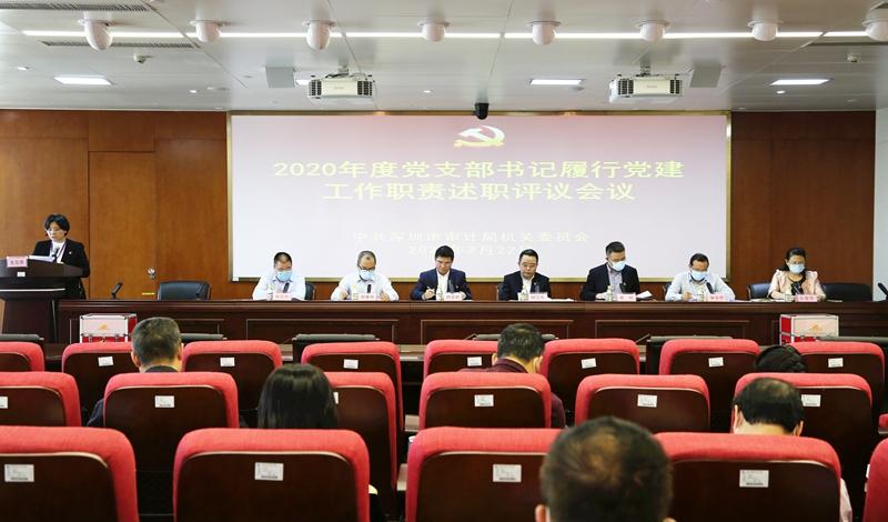 市审计局召开2020年度党支部书记履行党建工作职责述职评议会议