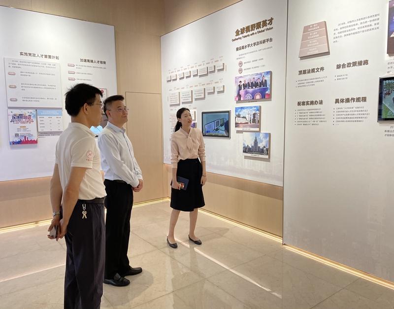 市审计局党组成员、副局长袁经到深圳市人才研修院经济责任审计现场调研